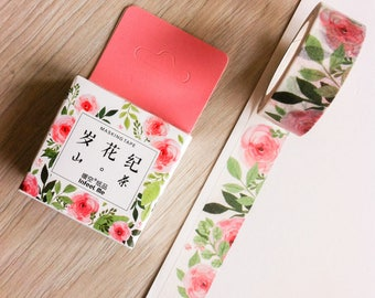 Cute washi tape - red roses - infeel me | Cute Stationery