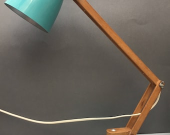 Vintage Maclamp Turqouise designed by Terence Conran for Habitat Table Lamp  Light