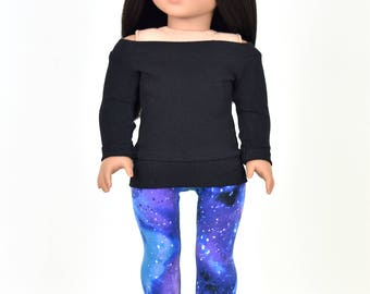 Pullover 18 inch doll clothes Black