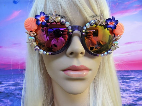 I'm Really A MERMAID Sunglasses Sun Glasses Sunnies Wayfarers Aviators Im Ariel Beach Sea Ocean Nautical Pinup The Little Mirrored A029