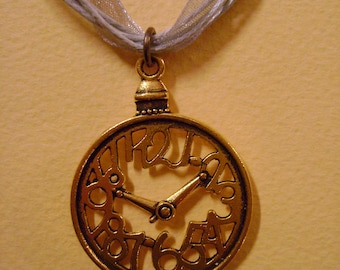 Necklace clock Alice the Wonderland