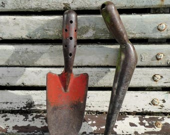 French Vintage Trowel And German Dibber, Garden Tools, Metal Trowel, Hand  Tools,