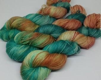 Sequined Dress - MCN Sock Yarn - Superwash Merino + Cashmere + Nylon - 80/10/10 - Ready to Ship