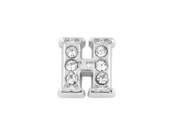 Alphabet Letter Initial H Floating Charms