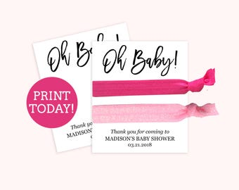 baby shower place card template