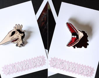 HALLOWEEN PACK Beetlejuice, Beetlejuice Brooch, Shrink Plastic Brooch