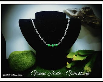 Green Jade Gemstone necklace