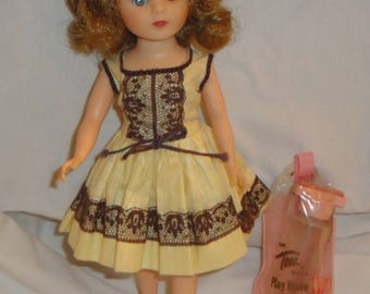 Vintage American Character Toni Doll in Original Dress Shopping Time with Play Wave Set and Curlers