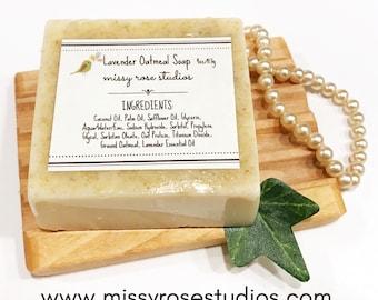 oatmeal soap, lavender oatmeal, facial soap, eczema soap, melt and pour soap, vegan soap, sls free, skincare products, sensitive skin