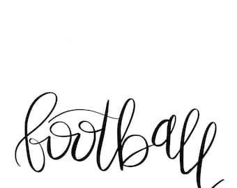 football digital svg cut file for cricut or silhouette