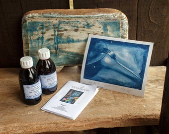 BIG Cyanotype KIT, 2x 200ml / contact printing, analogue photography, historic process