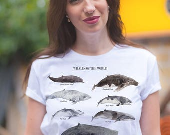 Whale shirts / Whale shirt / Whale t shirt / Whale shirts for men / Whale shirts for women / Watercolor whale