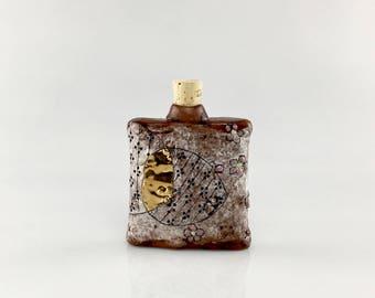 Handmade Ceramic Pocket Flask