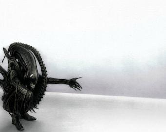 Original Alien Xenomorph Drawing (60x42 cm)