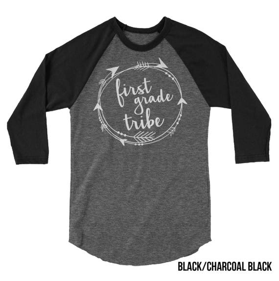 Tribal Grade Level Teacher 3/4 Sleeve Raglan T-shirt | Elementary | First, Second, Third, and Fourth Grade