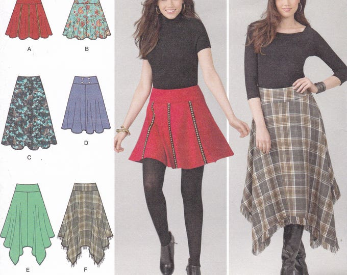 FREE US SHIP Simplicity 1500 Sewing Pattern 6 Cute Skirts  Size 6 8 10 12 14 Bust 30.5 31.5 32.5 34 36 Uncut h5
