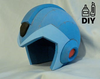 DIY Mega Man X helmet template for EVA foam
