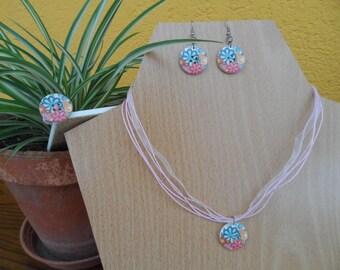 Parure, necklace, earrings, ear ring