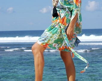 Bohemian loose fitting dress/Summer short Dress/Boho trendy dress/Summer short dress * FLORAL DRESS