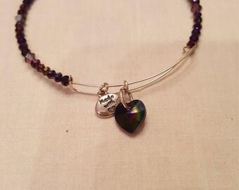 Beautiful Deep Purple Adjustable Bracelet