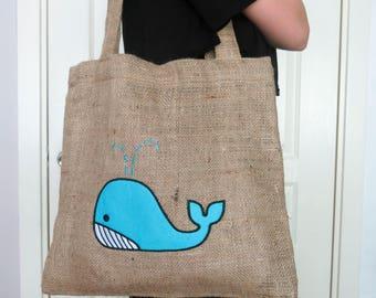 Burlap beach bag | Etsy
