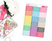 Small Meal Tracker Planner Stickers for the Erin Condren Life Planner, Label Sticker, Tracker Planner Sticker, Planner Sticker - [P0668]