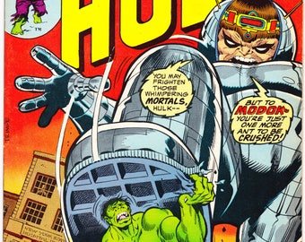The Incredible Hulk 167 comic, Smash, Modok book, Bronze Age, Herb Trimpe art. 1973 Marvel Comics in VF (8.0)