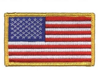 American Flag Patch - United States of America USA (Iron on)
