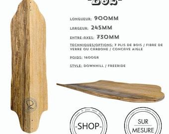Longboard Longboard skateboard handcrafted B52
