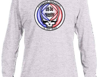 NA - FOREVER GRATEFUL  - Long Sleeve T-Shirt - S-3X -Black or Gray - 100% cotton.  Narcotics Anonymous