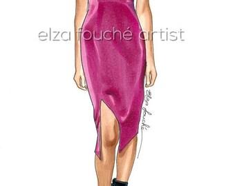 Pink dress illustration