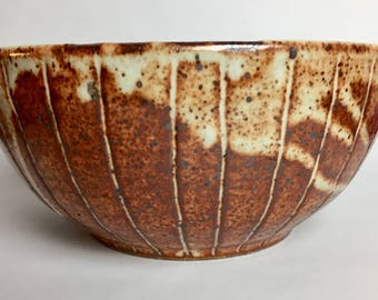 Stoneware Bowl with White Shino Glaze