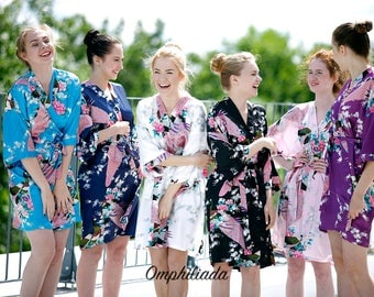 Bridesmaid Robes*Mix and Match Sizes and Colors*Set of Robes*Kimono Robe*Wedding Robe*Bridesmaid Gifts*Bridesmaids Party*Shipping from NY
