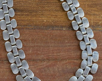 """Bold Sterling Silver Necklace from Mexico.  17"""" long"""