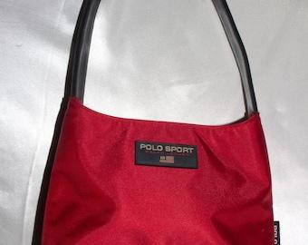 RALPH LAUREN Polo Sport 90s Red Raver Party Mini Purse Bag