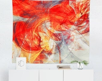 Charmant Red Tapestry | Red Wall Tapestry | Red Wall Decor | Red Wall Art | Red