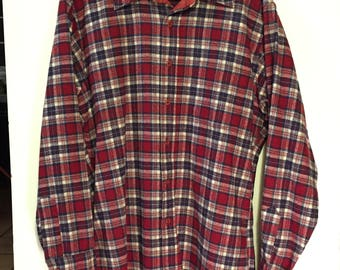 PENDLETON Vintage Flannel Shirt Made in USA 100% Cotton sz Medium