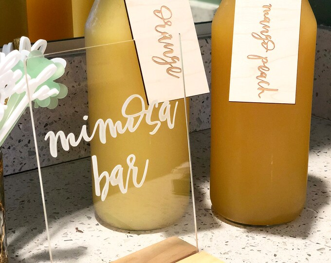 Mimosa Bar Acrylic Sign