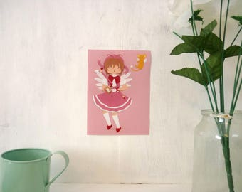Cardcaptor Sakura ∙ Digital mini print ∙ Cute magical girl anime art