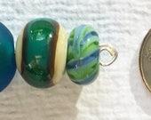 Set of Small Lamp Work Beads #4