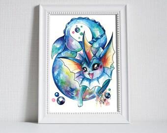 Pokemon Print ~ Vaporeon