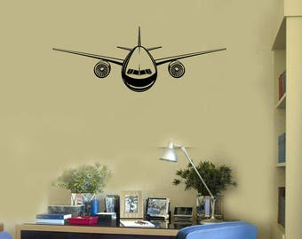 Aircraft Vinyl Wall Decal Airplane Aviation Boy Room Art Stickers Mural (#2626di)