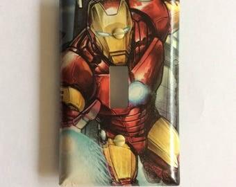Iron Man Comic Light Switch Wall Plate: [Single Toggle]