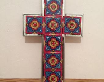 White and ceramic iron cross