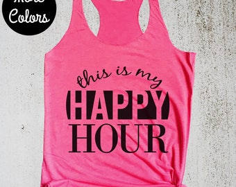 Happy Hour Workout Tank Top, Cute Workout Shirt, Funny Workout Shirt, Cute Workout Top, Workout Tank, Gym Shirt, Womens Workout Tank Top