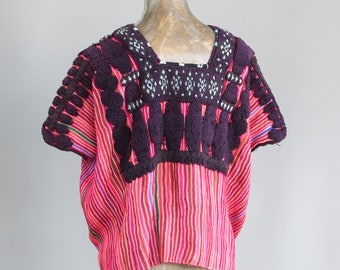 Hand Woven and Hand Embroidered Mexican Huipil Vintage Huipil