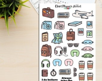 Travel Wanderlust Planner Stickers | Limited Release | Mystery Grab Bag December 2016 | Travel Stickers (MGB-DEC16)