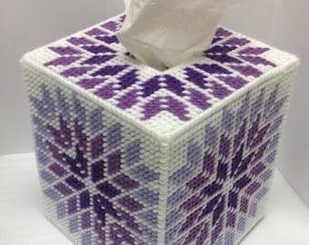Purple Tissue Box Cover