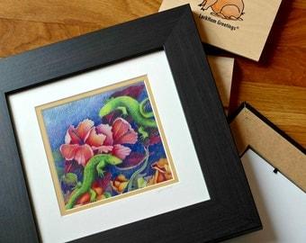 Original Art Print - Lizards