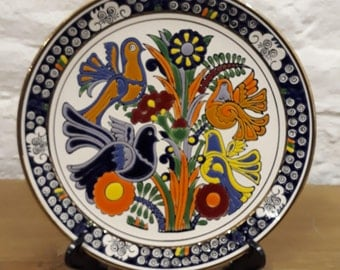 Vintage  Hand Made Faros Keramik Paradissi Rhodes Greece Plate - Wall Hanging Plate. In Very Good Condition.